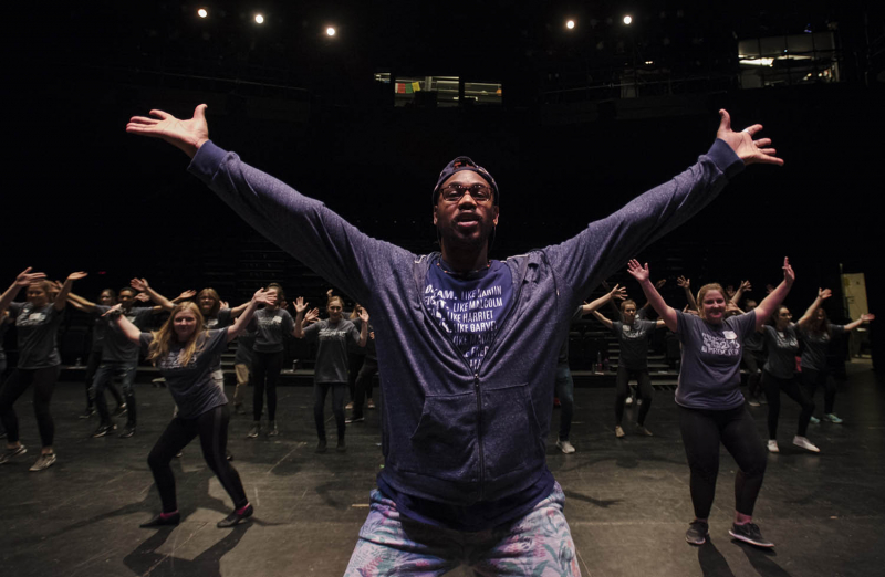 Students from across the Capital Region filled Proctors for the High School Theatre Festival Wednesday. April 11, 2018. Over 160 students from seven schools took part in workshops ranging from improv to Shakespeare, dance to make-up.