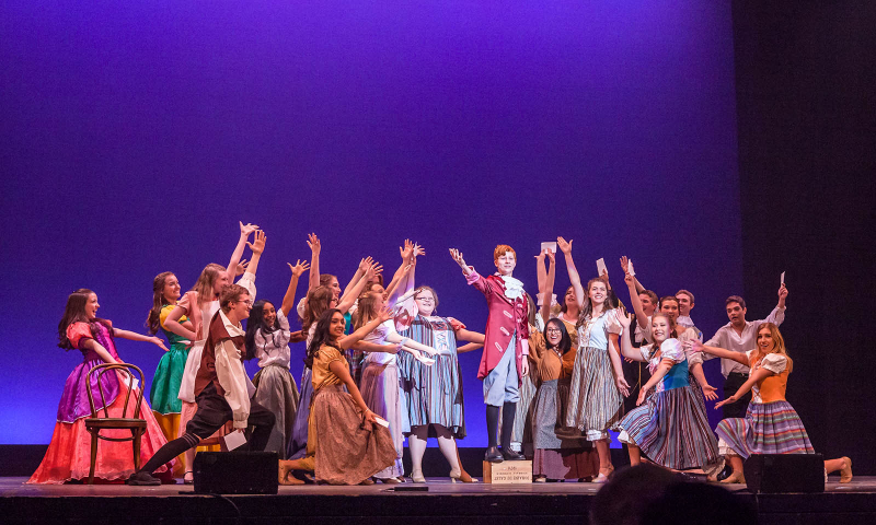 Students from Columbia High School perform a song from Cinderella during the 2018 High School Musical Theatre Awards at Proctors Saturday, May 19, 2018.