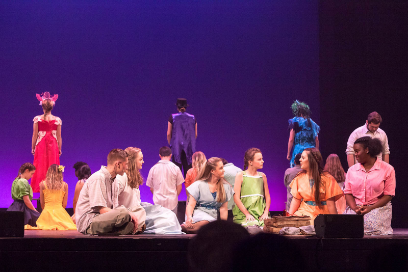 Students from Troy High School perform a song from Once On This Island during the 2018 High School Musical Theatre Awards at Proctors Saturday, May 19, 2018.