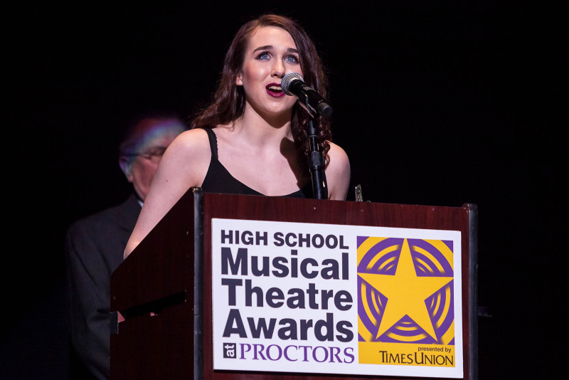 Students from around the Capital Region sing, dance and perform for the 2018 High School Musical Theatre Awards at Proctors Saturday, May 19, 2018.
