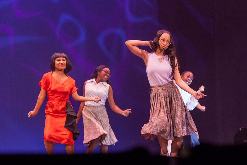 Students from Albany High School perform a song from Hairspray during the 2018 High School Musical Theatre Awards at Proctors Saturday, May 19, 2018.