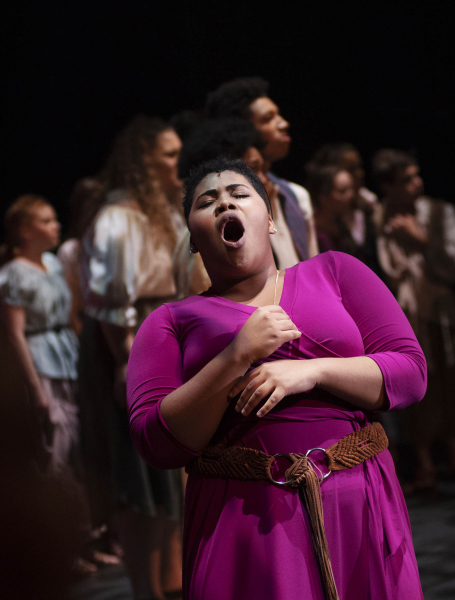 Broadway Camp students perform during the dress rehearsal for Aida on Mainstage at Proctors Friday, August 3, 2018.
