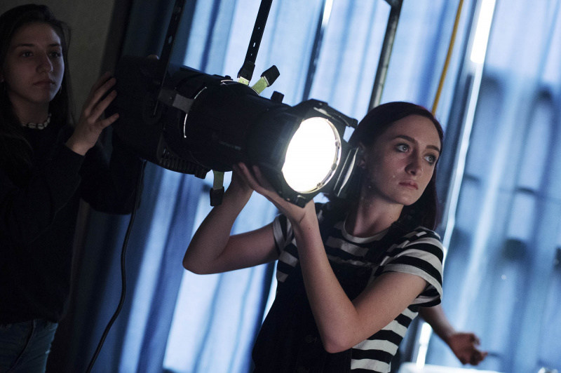 Production students experiment with different lights during a lighting seminar for Broadway Camp production students Thursday, July 18, 2019.