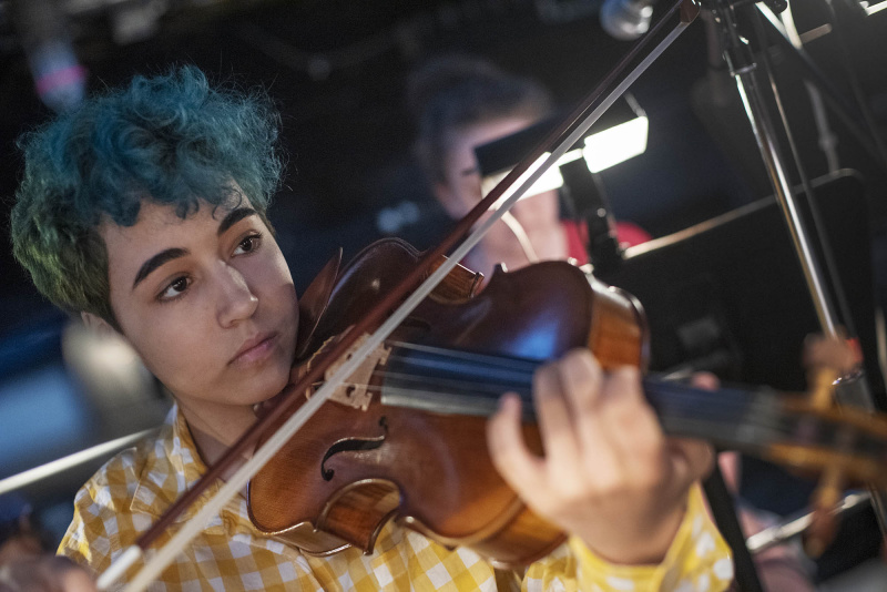 The Broadway Camp student orchestra rehearses with the cast during the sitz probe for Les Miserables on the MainStage at Proctors Wednesday, July 31, 2019.