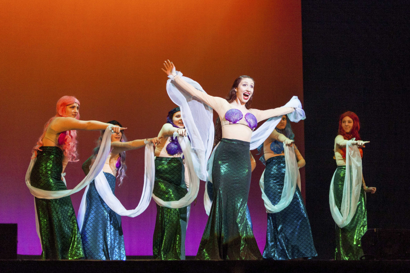 "Students from Northville High School perform ""She's in Love"" from Disney's The Little Mermaid during the 3rd Annual High School Musical Theatre Awards on the MainStage at Proctors Saturday, May 11, 2019."
