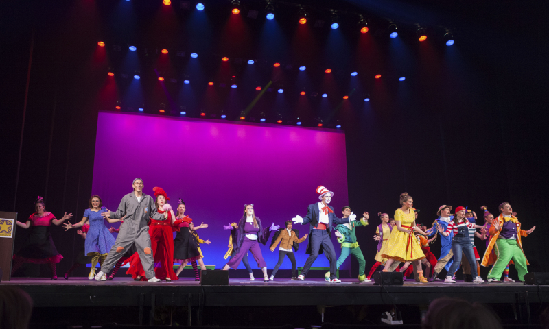 "Students from South Glens Falls perform ""Oh, The Thinks You Can Think"" from Seussical The Msucial during the 3rd Annual High School Musical Theatre Awards on the MainStage at Proctors Saturday, May 11, 2019."