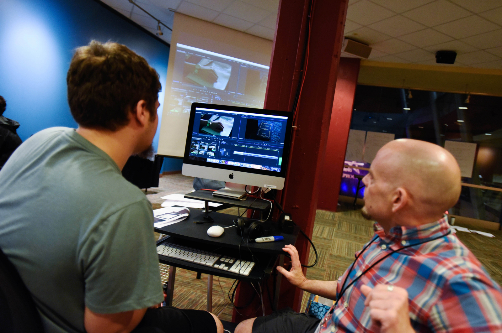 Filmmaking Academy students shoot and edit video at Proctors during their two-week summer education program Tuesday, July 25, 2017.