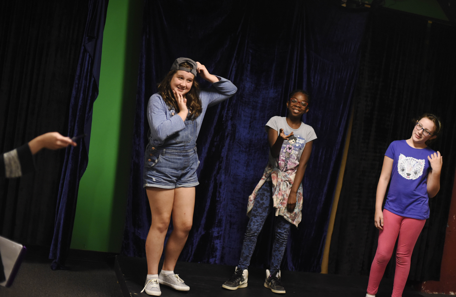 Students from Imagine That! act out words and feelings during the Summer Education Program at Proctors Tuesday, July 25, 2017.