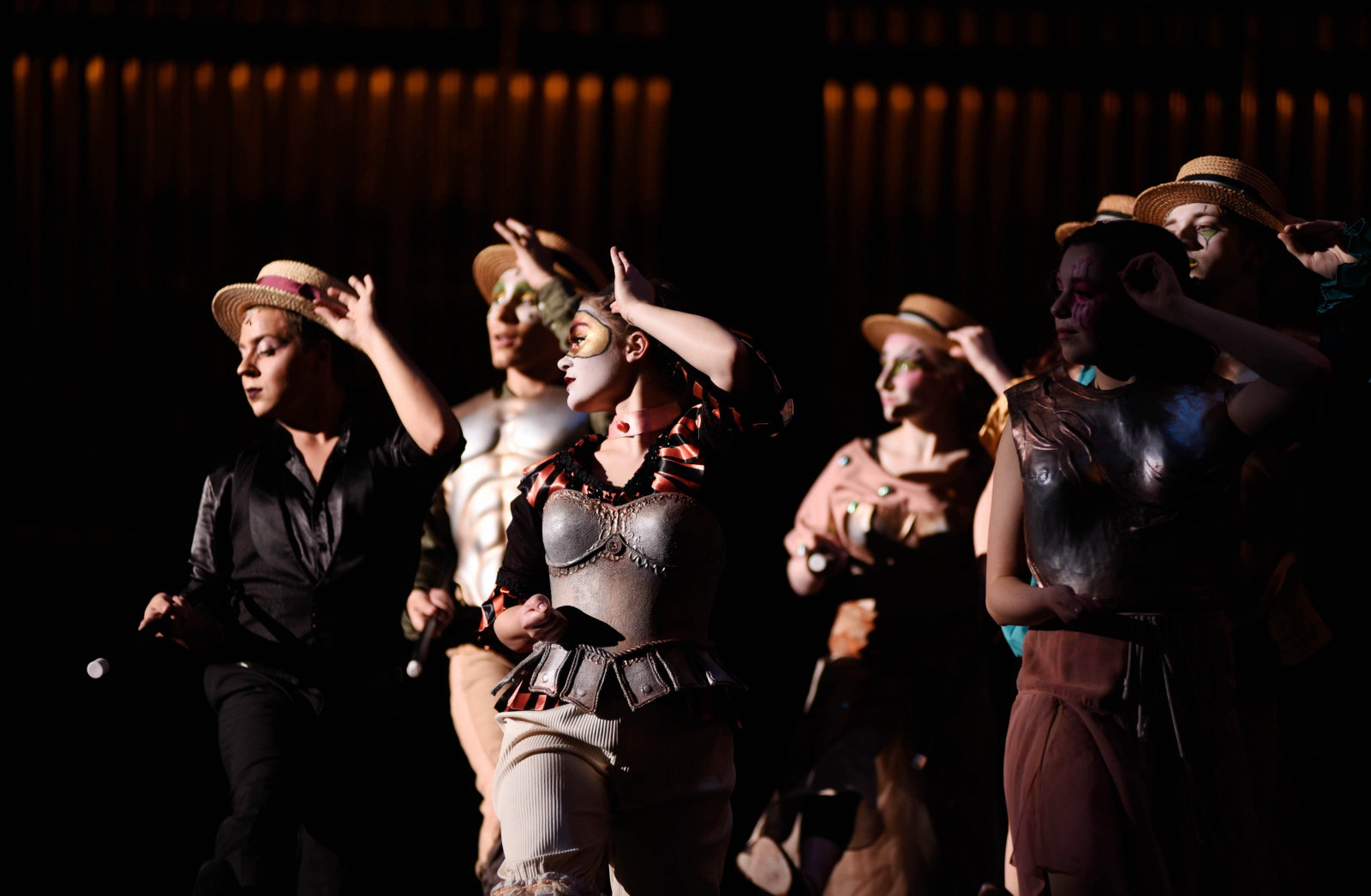 Broadway Camp students perform during a dress rehearsal for Pippin at Proctors Friday, August 4, 2017.