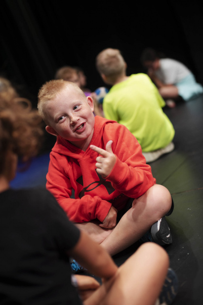 Kids create stories during Acting Out!, a summer camp at Proctors Tuesday, June 9, 2019.