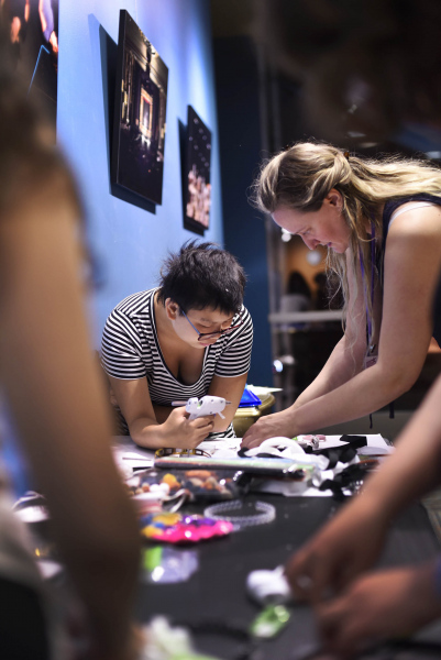 Students create animal characters in the Character Creation summer camp at Proctors Tuesday, June 9, 2019.