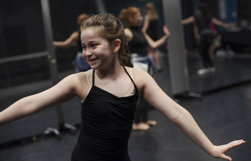 Dance Lab students learn choreography in the addy dance studio Thursday, July 18, 2019.