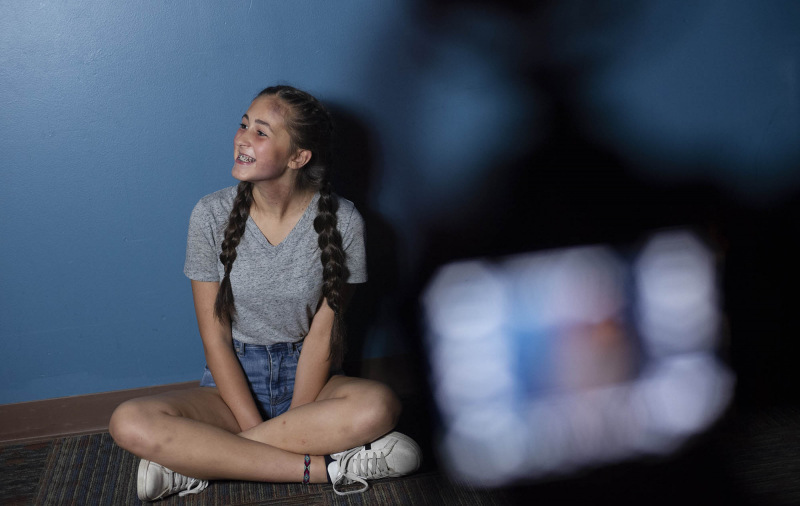A student from Acting for the Camera prepares for a shoot in the Fenimore Asset Gallery Thursday, July 18, 2019. She was being filmed by a student from the filmmaking program.