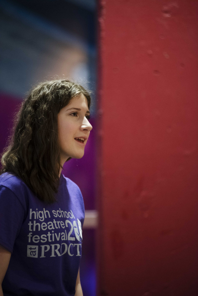 A student sings during an acting through singing workshop during the High School Theatre Festival at Proctors Thursday, April 18 2019. Over 250 students from 12 school across the Capital Region came together at Proctors for the 5th annual High School Theatre Festival.